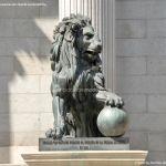 Foto Escultura Leones Congreso de los Diputados 2