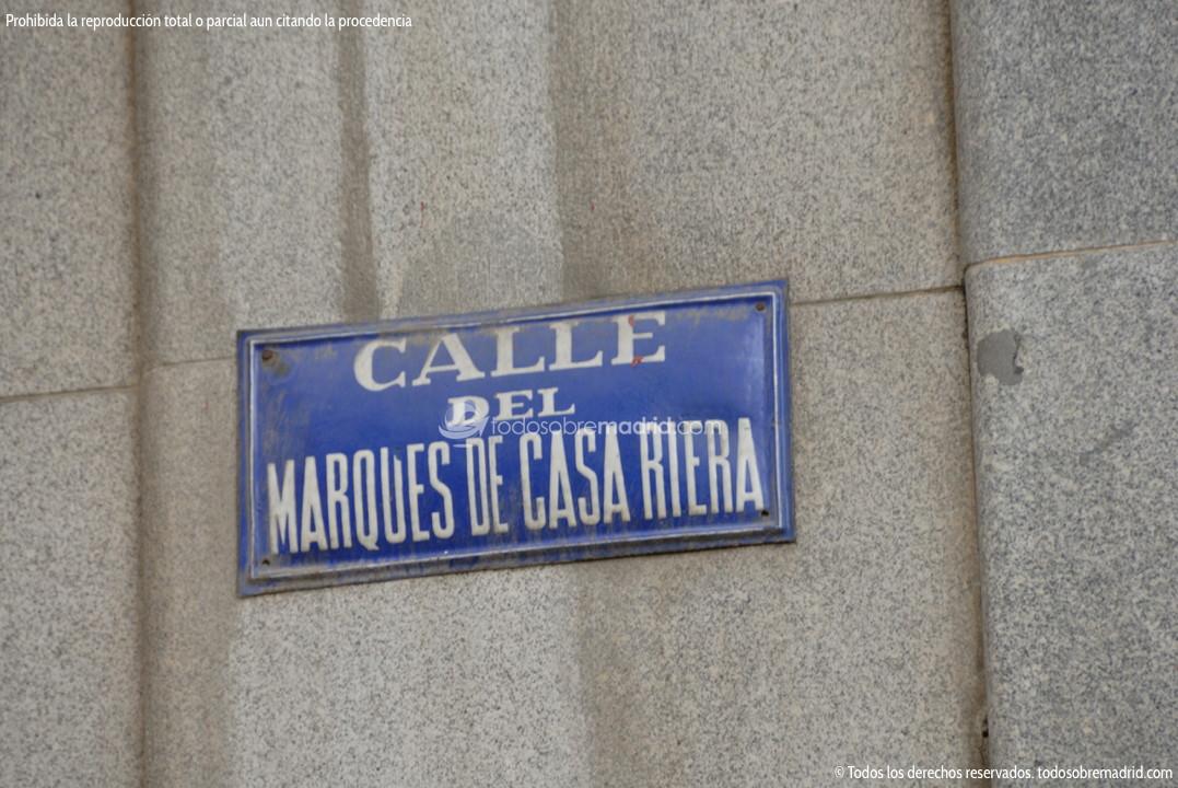 Calle Del Marqués De Casa Riera Todosobremadrid Com